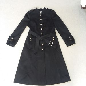 Ann Taylor LOFT long military style trench coat 10